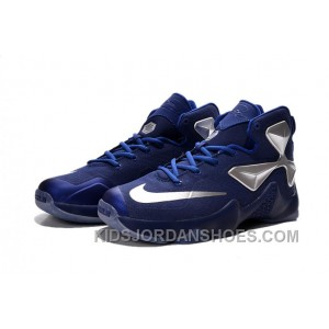 Nike LeBron 13 Blue Silver Grade School Shoes Discount Btwitc