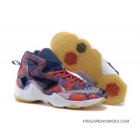Nike LeBron 13 Kids Shoes American Star Basketball Shoes For Sale