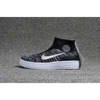 Nike Lunar Force1 Duckb 28-35 Kids Black White Discount