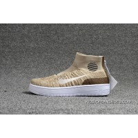 Nike Lunar Force1 Duckb 28-35 Khaki Kids Shoes Super Deals