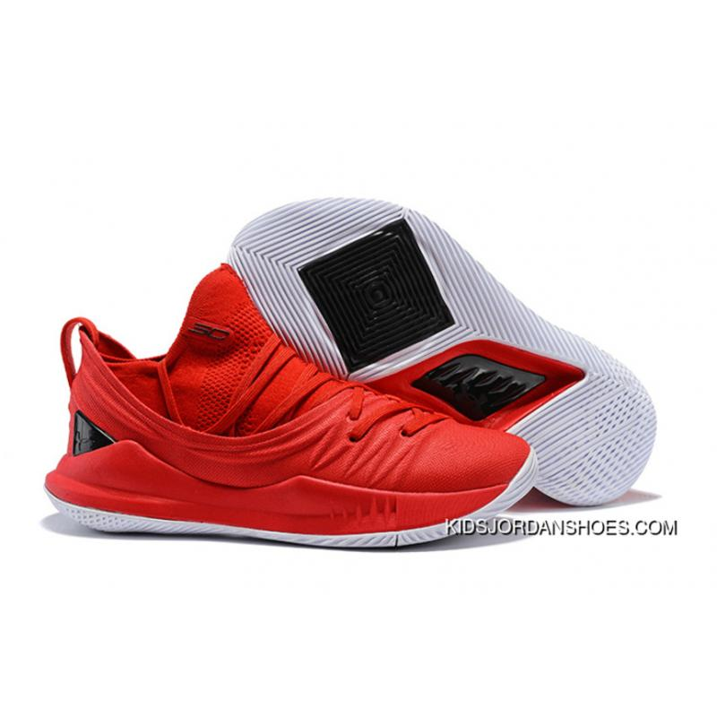 meet 0e0bb 65ea5 UA Curry 5 Red White 2018 New Under Armour New Style