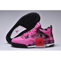 Nike Women Jordan 4 UNC PE Cherry White Black-New Update 43110