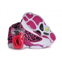 Womens Keep Moving Sneakers Nike Jordan 13 (GS) Retro Leopard Print P
