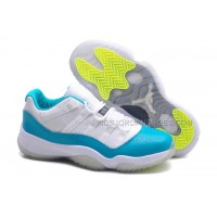 "GS Low ""Aqua"" Nike Jordan Brand Retro XI Basketball Shoes - White"