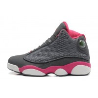 Womens Air Jordan 13 XIII (GS) Cool Grey/Fusion Pink-White Nike