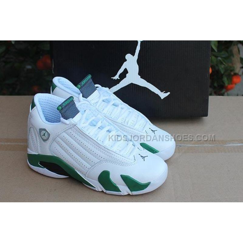 uk availability 097a5 19dfb ... light graphite sz 5.5 8ba50 77e63  cheap nike air jordan 14 retro white  deep forest green with black and ccf34 63b0d