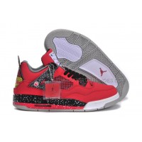 Womens Air Jordan 4 ??B.A.R-Town?? Custom Red Black Colorways 42