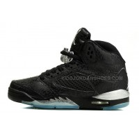 "Retro Michael Jordan 5 ""3Lab5"" Black/Silver Female Training Foot"