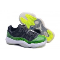 "Air Jordan 11 Low GS ""Green Snakeskin"" Female Retro 2014 Sneaker"