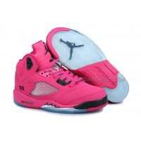 "Female Nike Jordan 5 GS ""Pink - Black"" Retro Keep Moving Shoes 10261"