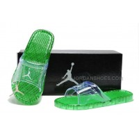 Nike Jordan Massgae Green Slippers Womens 96121