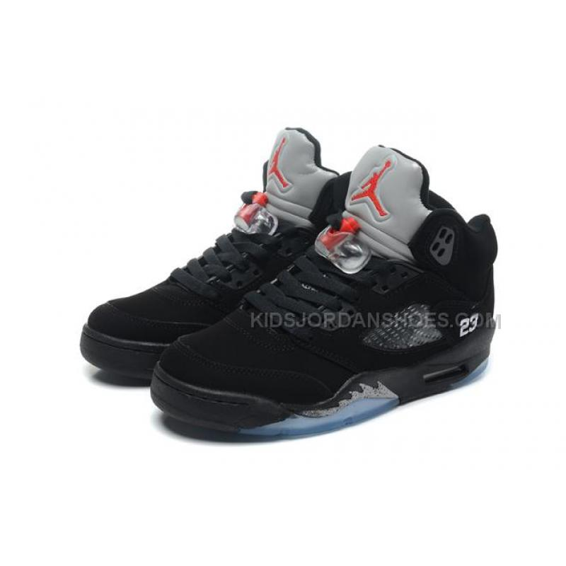 check out b8784 1907b Nike Womens Air Jordan 5 Retro Black Metallic Silver Colorways 8