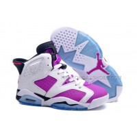 "Girls/Womens Nike Jordan Retro 6 (VI) ""Bright Grape"" Colorway wi"