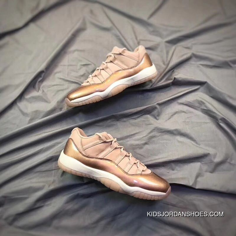 new style 34593 fe2a5 Air Jordan 11 Low GS Rose Gold Outlet