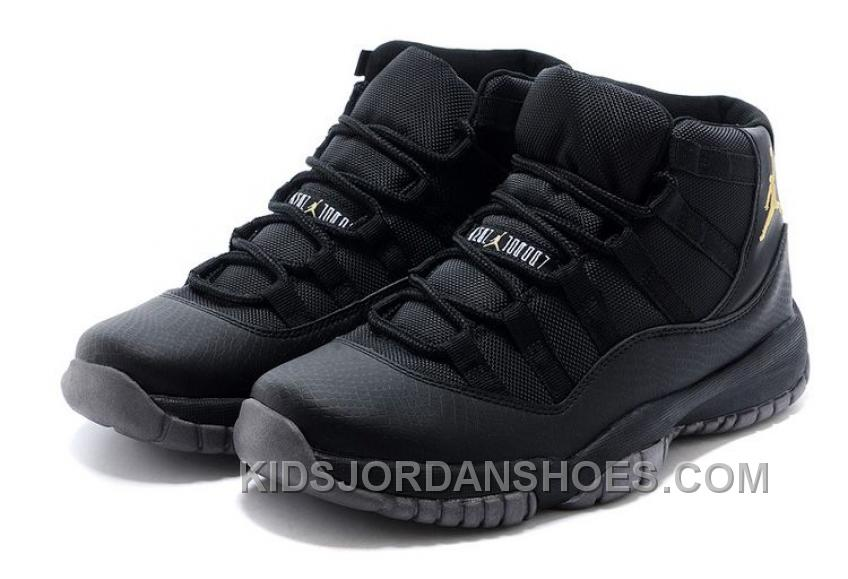 95464bc4f5f Charcoal Black And Gold Jordan 11 Men Basketball Shoes Free Shipping Online  PnB7Kr