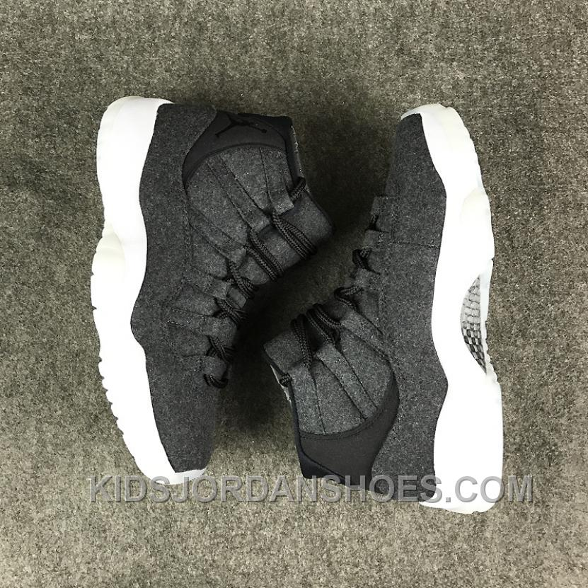 adf9af6457a3c4 Air Jordan 11 Wool Dark Grey Discount I5WwN
