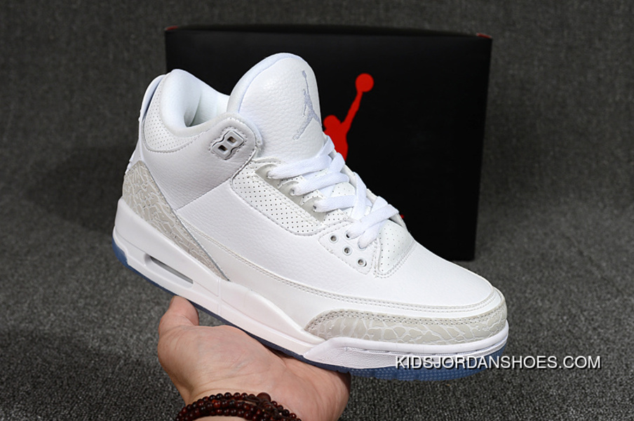 new concept 8b5f7 82f33 Air Jordan 3 Pure White Pure White New Style