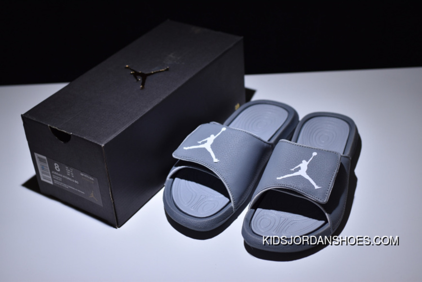 7a0302c06fa45b Air Jordan Hydro 6 Sandals All Grey Women Men Top Deals