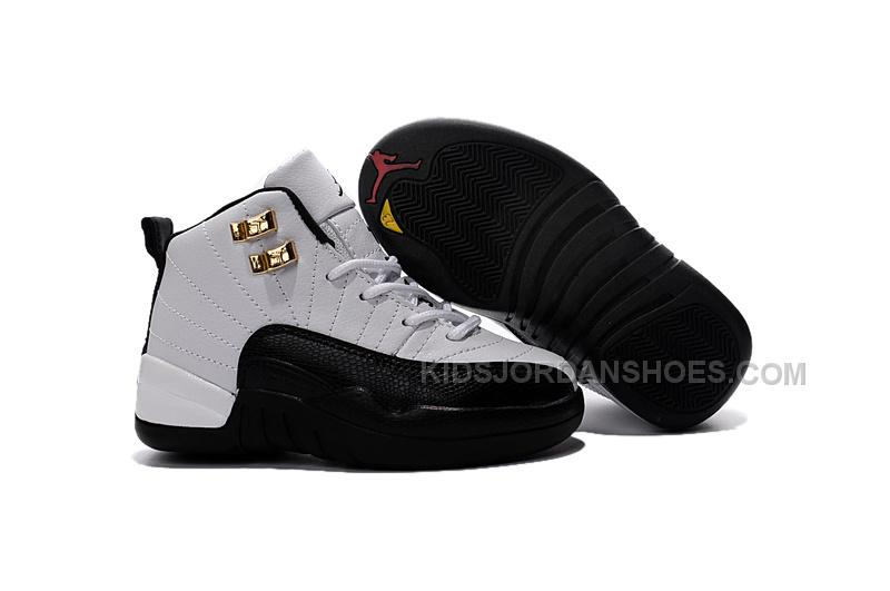 Air Jordan 12 Taxi White and Black Gold Size US11C to US 3Y