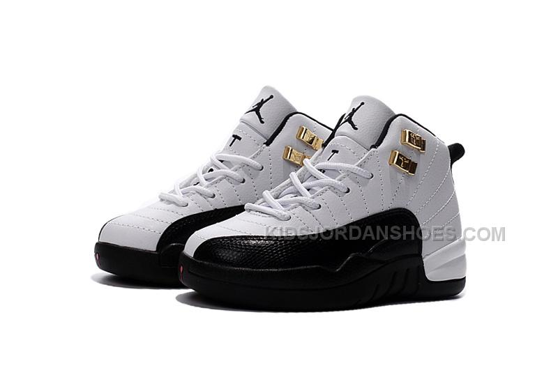 new concept 15a46 deb1e Air Jordan 12 Taxi White and Black Gold Size US11C to US 3Y