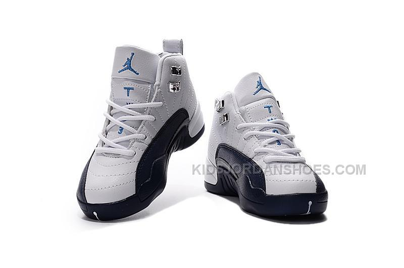 competitive price 7e04a c1866 2016 Discount Nike Air Jordan 12 XII Kids Basketball Shoes White Black  Child Sneakers