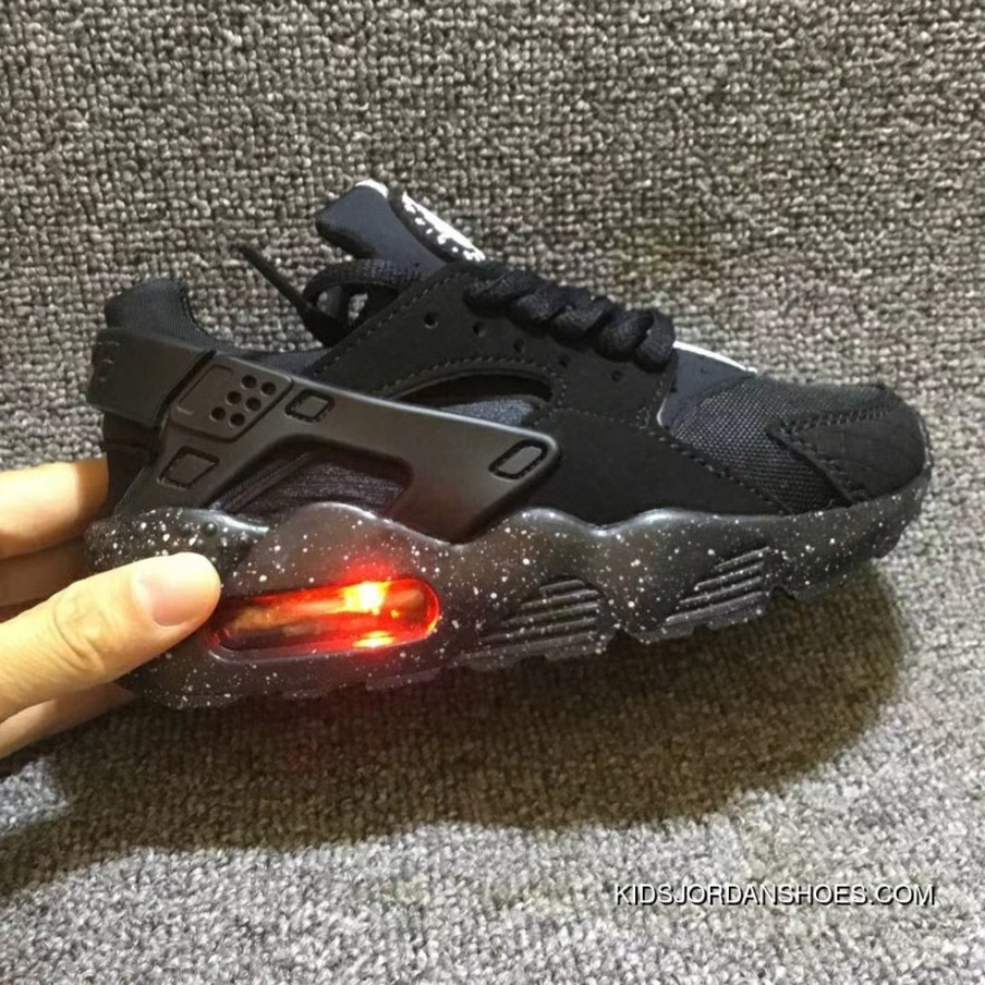the latest 7d188 b9d59 Kids Nike Huarache Light Shoes All Black Outlet