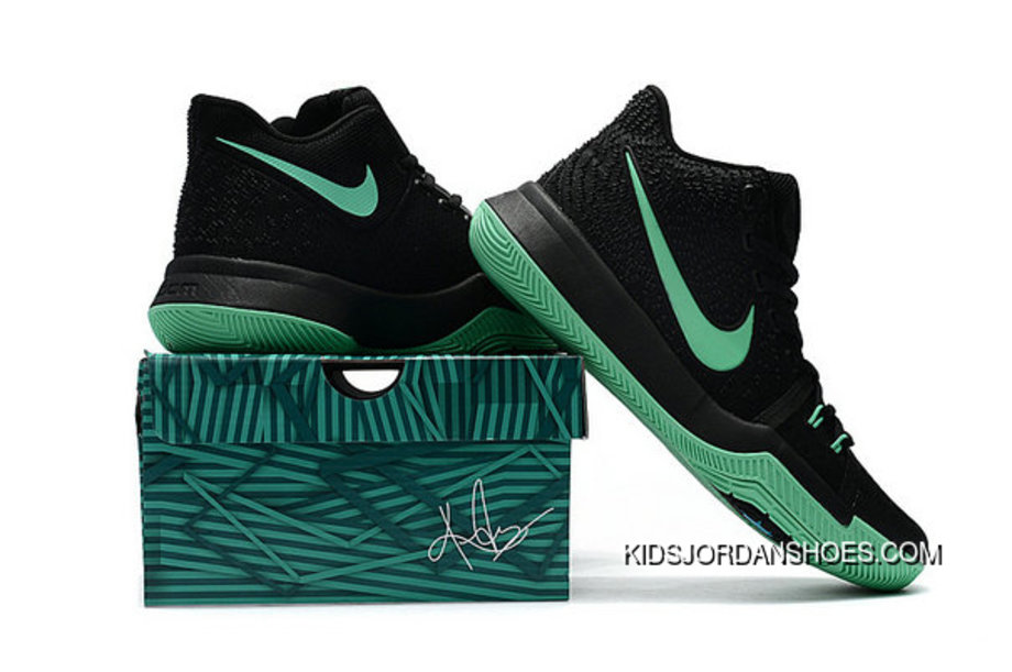 info for 00045 3e408 Kyrie Shoes Nike Kyrie Irving 3 Kids Black Grass Green Best