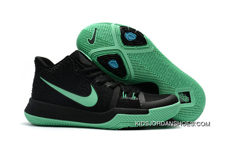 02cd946c03c7 Kyrie Shoes Nike Kyrie Irving 3 Kids Black Grass Green Best