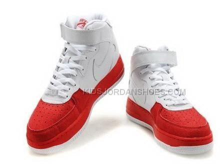 Womens Nike Air Force 1 Mid Red White