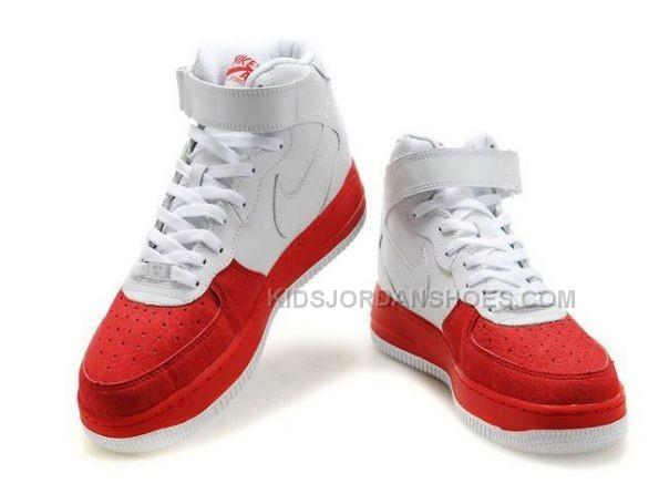 Mens Nike Air Force 1 Mid RedWhite Tennis Shoes Price