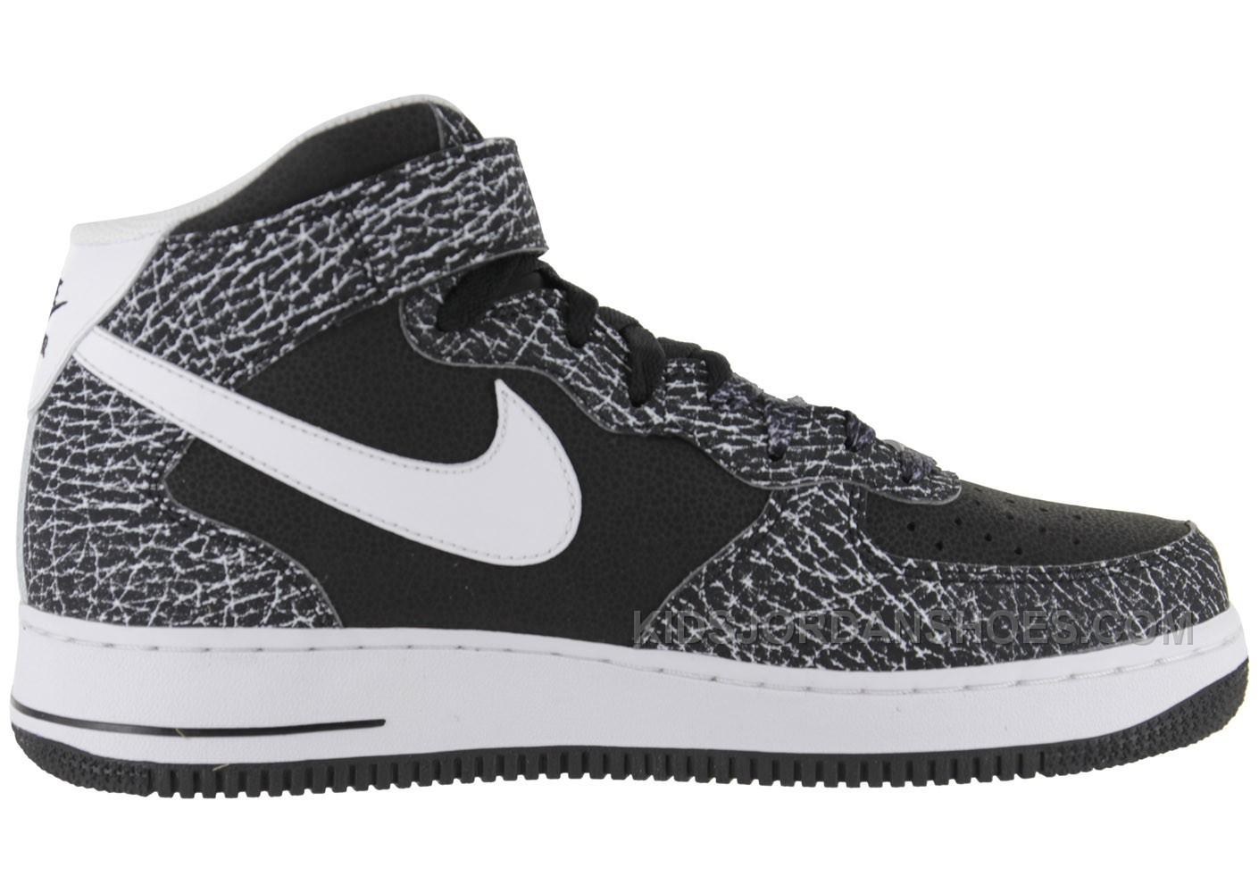 size 40 1f696 1fe5d Nike Air Force 1 Mid Black/White Sports Shoes