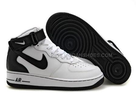 Mens Nike Air Force 1 Mid WhiteBlack Sports Shoes
