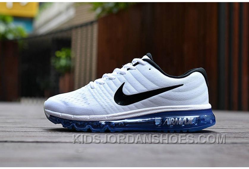 3821e0738c Authentic Nike Air Max 2017 White Black Royal Blue Super Deals KSkkKxN