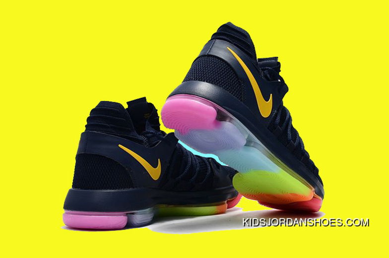new style 29d1d aa90c New Nike Kd 10 Be True Black/Yellow Colorful Copuon