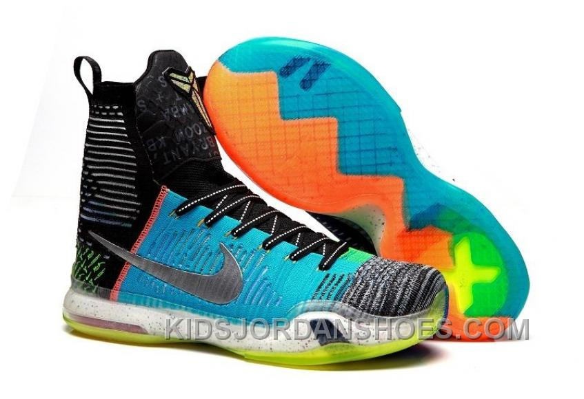 "Nike Kobe 10 Elite High SE ""What The"" Multi-color/Reflective Silver For Sale Online Top Deals Tdjx6"