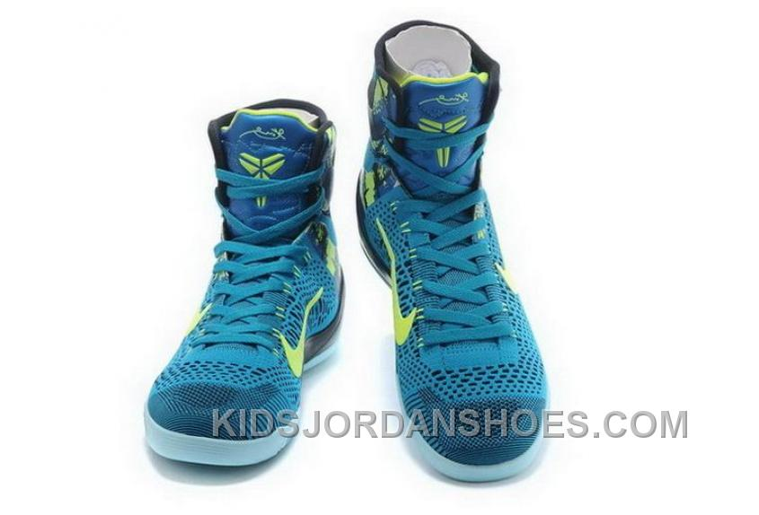 c29164598015 Buy Cheap Nike Kobe 9 High 2015 Blue Green Mens Shoes Super Deals KAD3TGY
