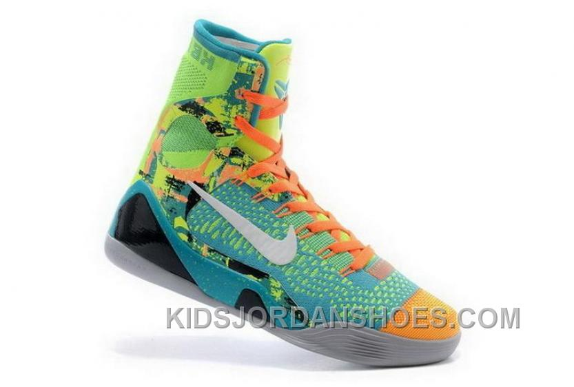 1a2d4b37a027 Buy Cheap Nike Kobe 9 High 2015 Jade White Orange Mens Shoes Top Deals  X3F3SMc