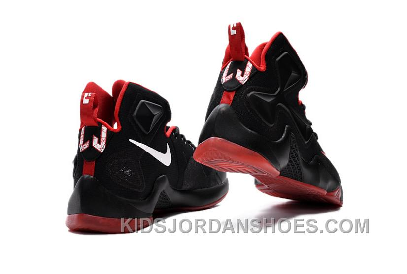 online store 20636 6cc64 Nike LeBron 13 Black Red Grade School Shoes Best DhGSTy3