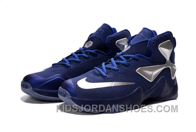 4d40a29d00bb Nike LeBron 13 Blue Silver Grade School Shoes Discount Btwitc