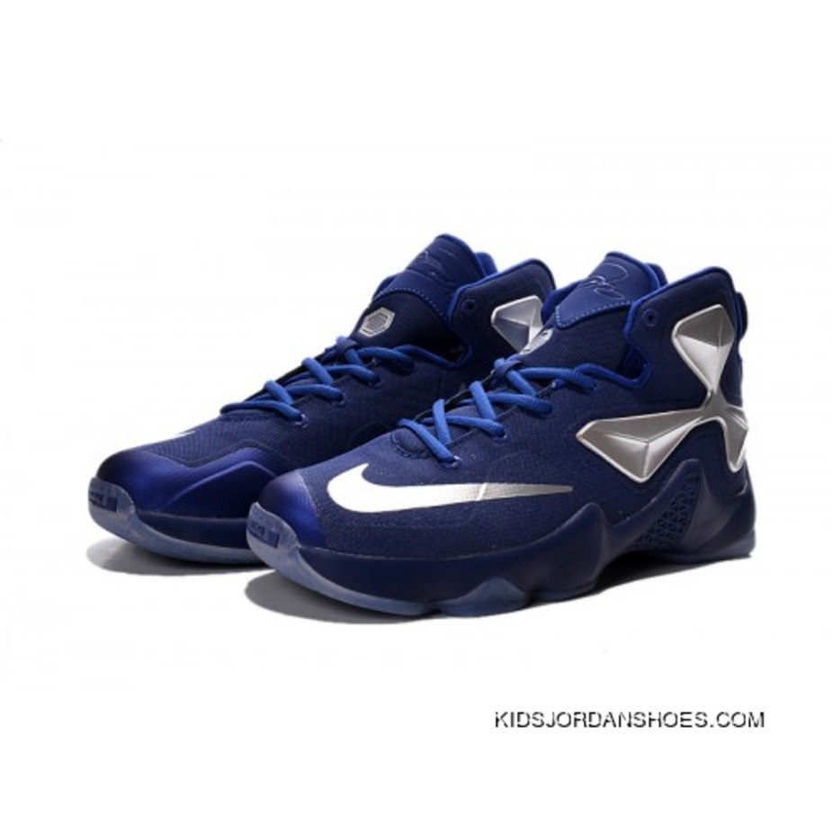 the latest fbb29 9fcd1 ... youth size 7 a2c92 new zealand nike lebron 13 blue silver kids shoes  basketball shoes online 534a6 c1416 ...