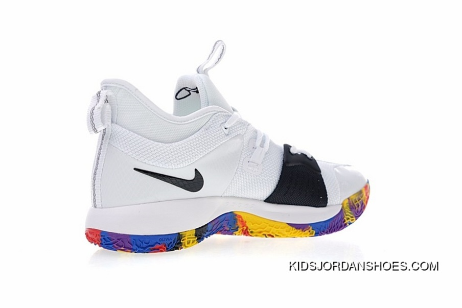 219a8aff64b0 Nike Air Jordan PG2 Paul Put 2.0 Signature Blue Ball Shoes Series White  Black March Madness
