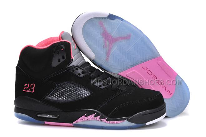 separation shoes 8f5c5 6bb77 Michael Jordan 5 Retro Women Size Shoes GS Black Pink 12985
